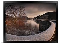 Carreg Ddu Winter Glow, Framed Print