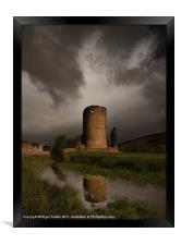Tretower Storm, Framed Print