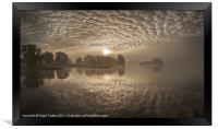 Llangorse lake dawn, Framed Print