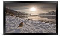 Llwyn Onn winter landscape, Framed Print
