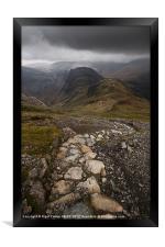 Hay Stacks Path, Framed Print