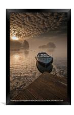 Llangorse Lake misty dawn, Framed Print