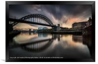 The Tyne Bridge, Newcastle Cityscape, Framed Print