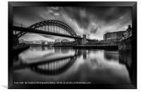 Newcastle Cityscape, Framed Print