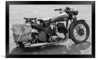 BSA Motorbike, Framed Print