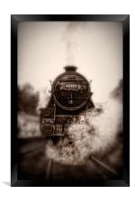 Steam Train - 45212 Locomotive Head On, Framed Print