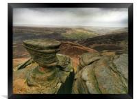 Rock Formations at Fairbrook Naze, Derbyshire., Framed Print