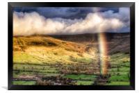 Rainbow over Edale., Framed Print