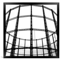 Disused London Gasometer, Framed Print