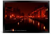 Canals of the Night, Framed Print