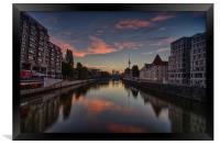 River Sunrise, Framed Print