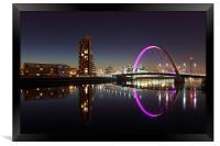 Glasgow Clyde Arc Bridge, Framed Print