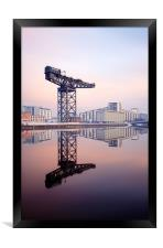 Glasgow Finnieston crane reflection, Framed Print