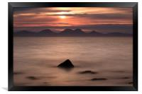 Red Sunset over Sound of Jura, Framed Print