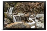 Speaks Mill Mouth Waterfall, Framed Print