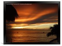 Sunset Sosua, Framed Print