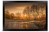 Herefordshire Sunrise, Framed Print