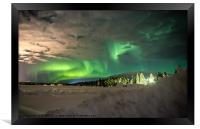 The Aurora Borealis, Framed Print