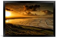 Surfer Sunrise, Framed Print