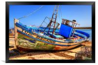 Old Portugees Fishing Boat, Framed Print