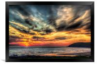 Croyde Bay Sunset, Framed Print