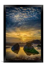 Combesgate Beach, Framed Print