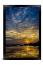Coombesgate Beach, Framed Print