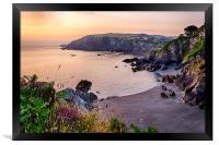 Sandy Cove, Lee Bay North Devon., Framed Print