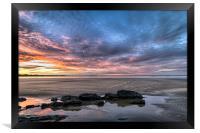 Saunton Sands sunrise, Framed Print