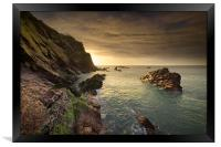 North Devon Coastline at Ilfracombe., Framed Print