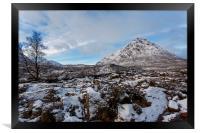 Buachaille Etive Mor in Winter, Framed Print