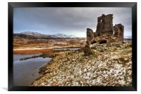 Ardvreck Castle in The Snow, Framed Print