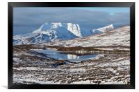 Ben More Coigach and Clar Loch Mor, Framed Print