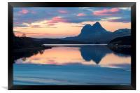 Suilven a Winter Sunset, Framed Print