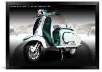 Mod scooter, Framed Print