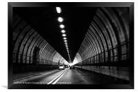 Dartford Crossing Tunnel, Framed Print