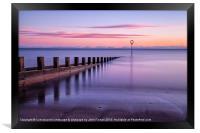 Perfectly pastel Portobello Beach, Framed Print