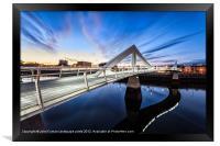 Squiggly Bridge Glasgow, Framed Print