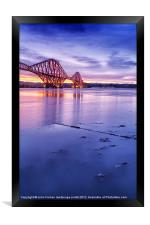 Forth Rail Bridge colour sunrise, Framed Print