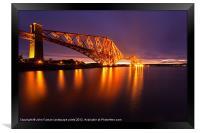 Forth Rail Bridge colour sunrise, Framed Print