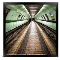 Glasgow Subway Oh so quiet, Framed Print