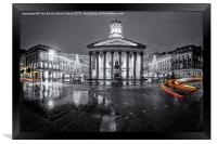 GOMA royal exchange square glasgow, Framed Print