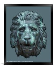 Antique Lion Face, Dublin, Framed Print