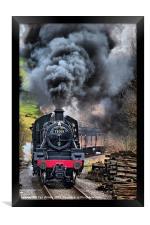 78019 Steam Train In Motion, Framed Print