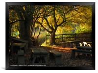 Autumn in the Classroom, Framed Print