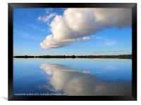 Fluffy Cloud over Hanningfield, Framed Print