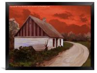 Storm Cottage, Framed Print