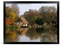 Cottage on the Lake, Framed Print