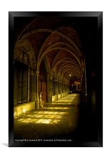 cathedrale cloister belgium, Framed Print