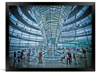 Reichstag dome, Framed Print